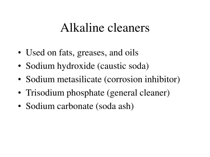 Alkaline cleaners