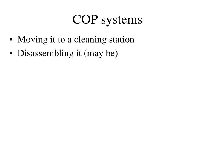 COP systems
