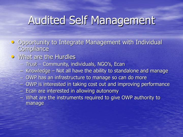 Audited Self Management