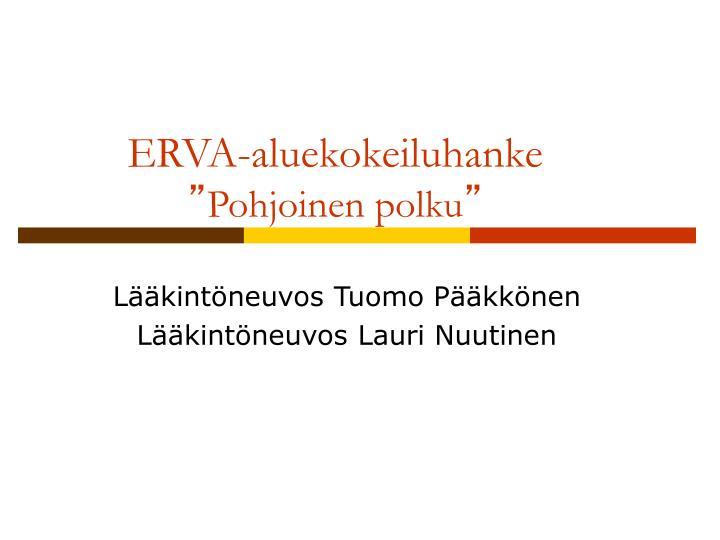 ERVA-aluekokeiluhanke
