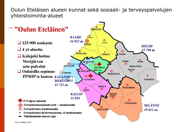 Oulun Eteläisen alueen kunnat sekä sosiaali- ja terveyspalvelujen