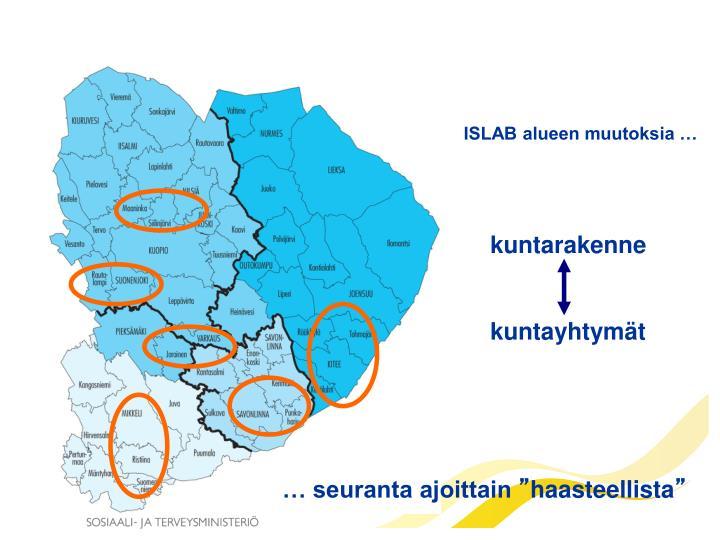 ISLAB alueen muutoksia …