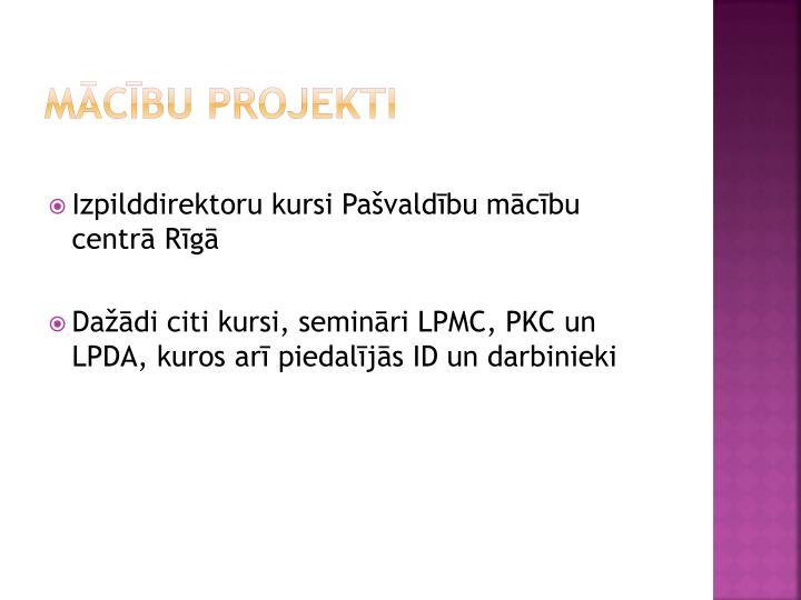 Mācību projekti