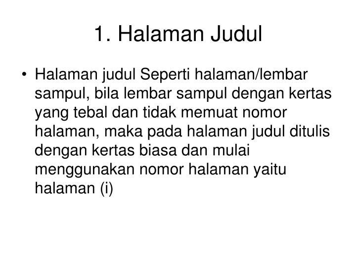 1. Halaman Judul