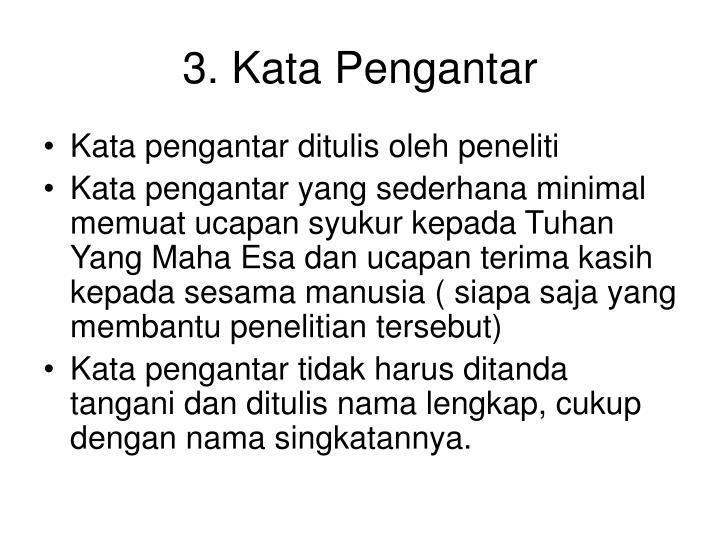 3. Kata Pengantar
