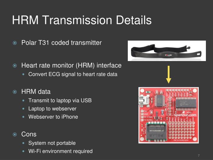 HRM Transmission Details