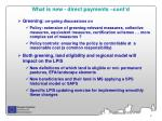 what is new direct payments cont d