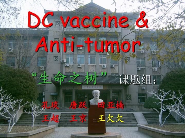 Dc vaccine anti tumor