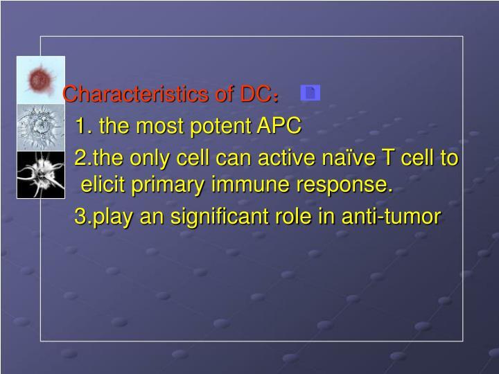 Characteristics of DC