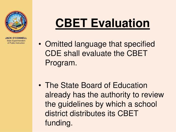 CBET Evaluation