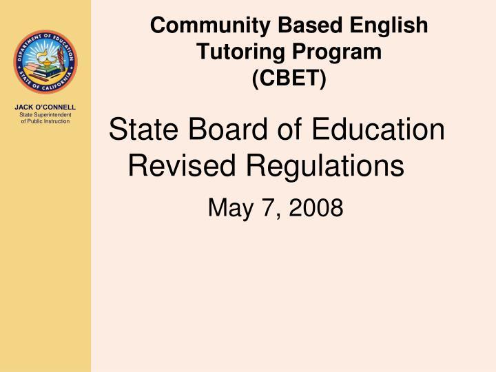 Community Based English Tutoring Program