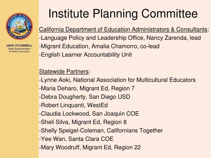 Institute Planning Committee