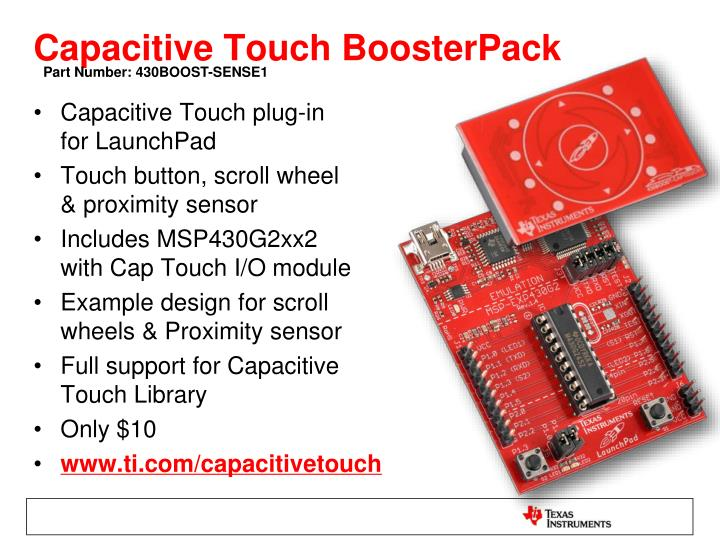 Capacitive Touch BoosterPack