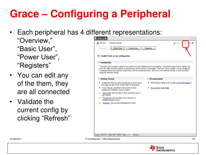 Grace – Configuring a Peripheral