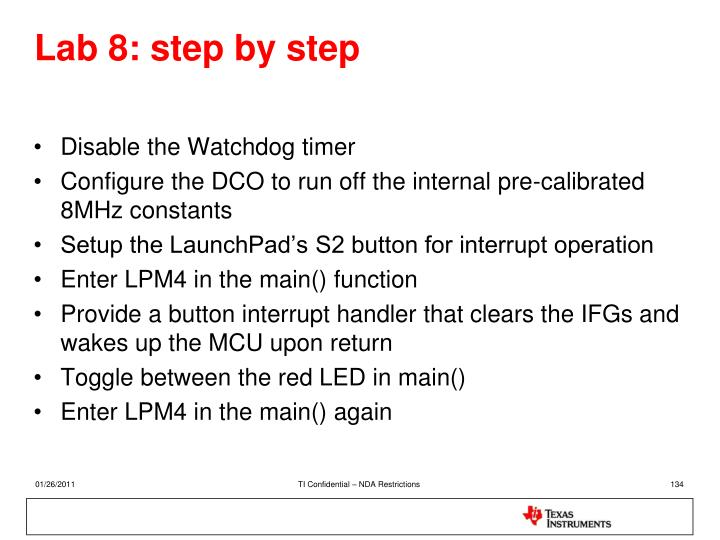 Lab 8: step by step