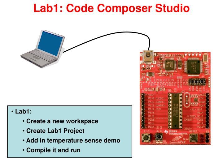Lab1: Code Composer Studio