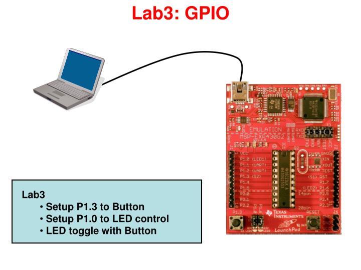 Lab3: GPIO