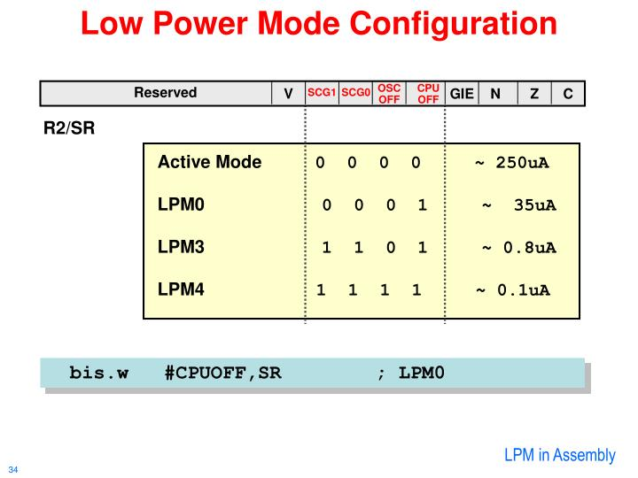 Low Power Mode Configuration