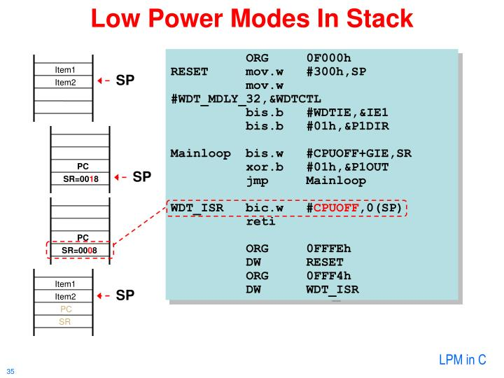 Low Power Modes In Stack
