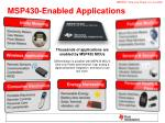 msp430 enabled applications