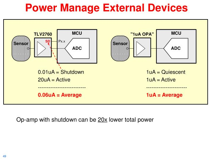 Power Manage External Devices