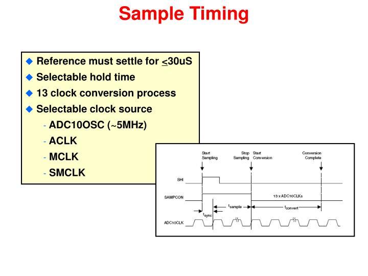 Sample Timing