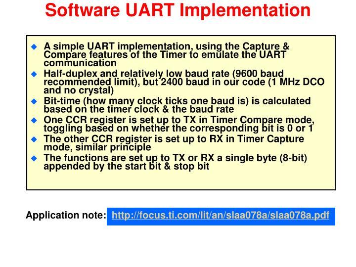 Software UART Implementation