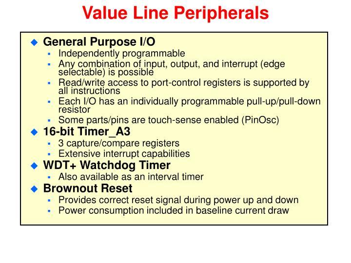 Value Line Peripherals