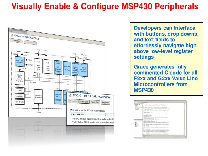 Visually Enable & Configure MSP430 Peripherals