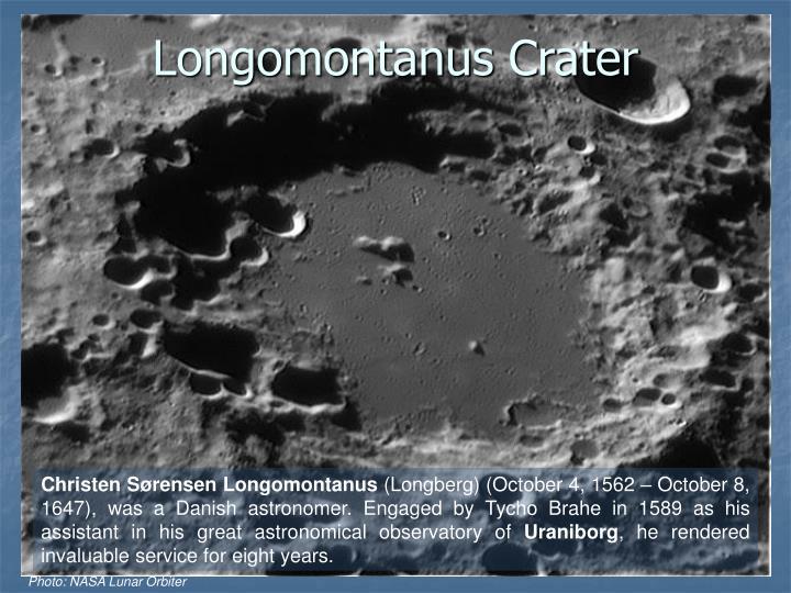 Longomontanus Crater