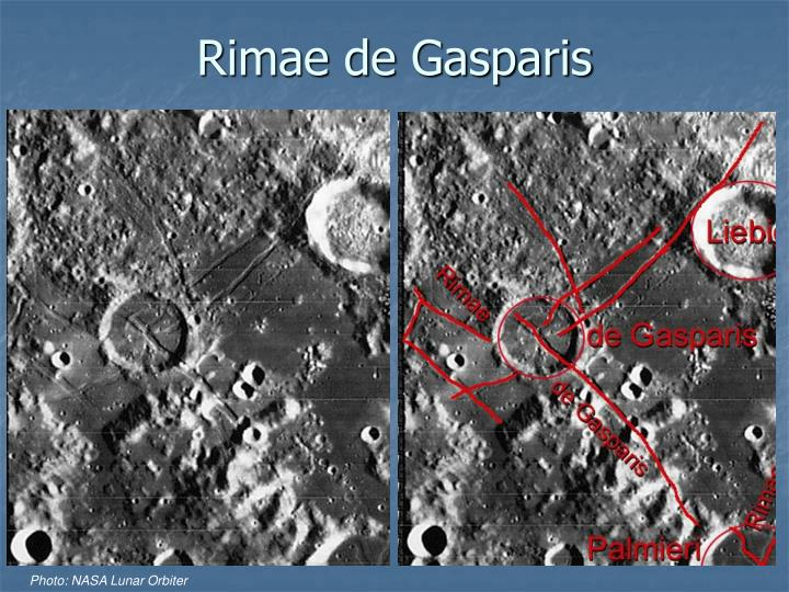 Rimae de Gasparis