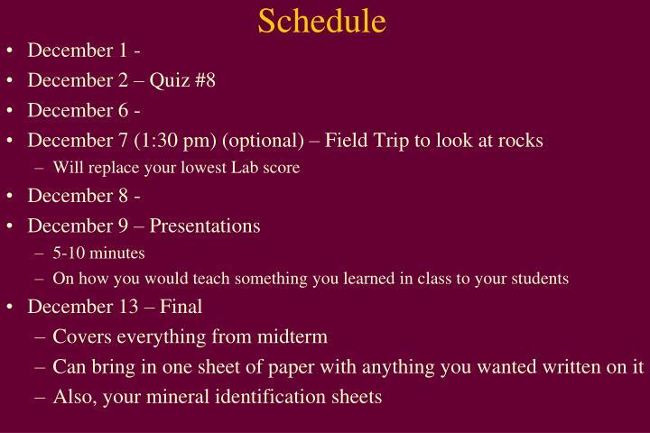 schedule ppt