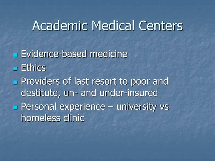 Academic Medical Centers