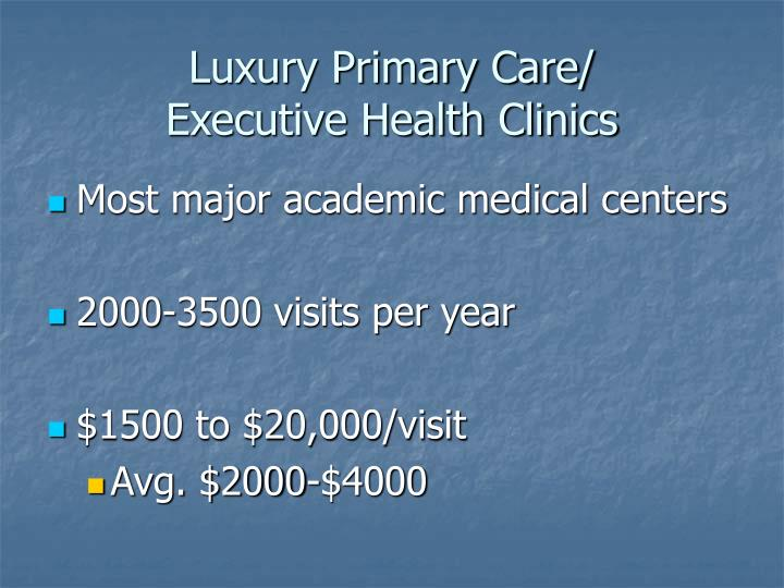 Luxury Primary Care/