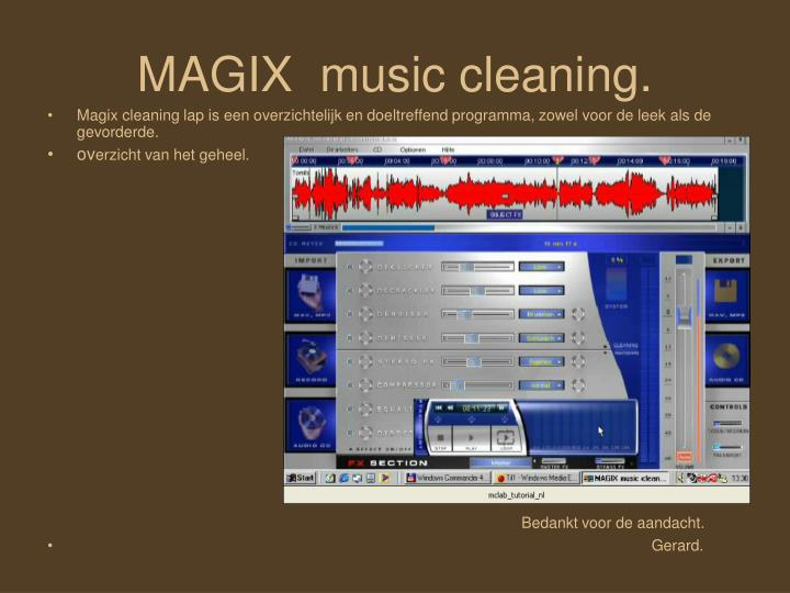 MAGIX  music cleaning.