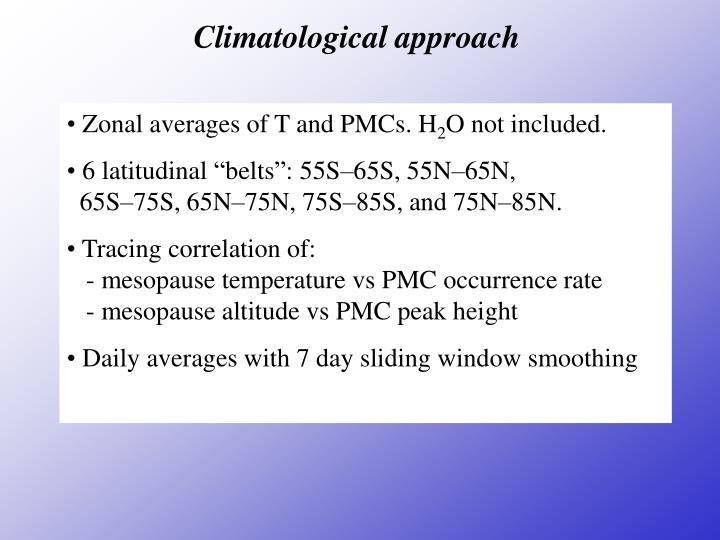 Climatological approach