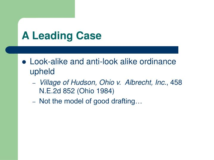 A Leading Case