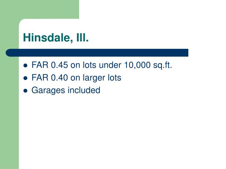 Hinsdale, Ill.
