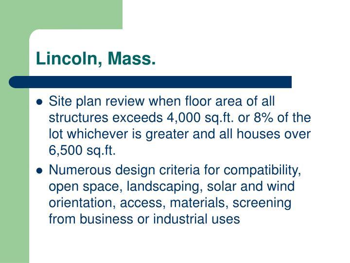 Lincoln, Mass.