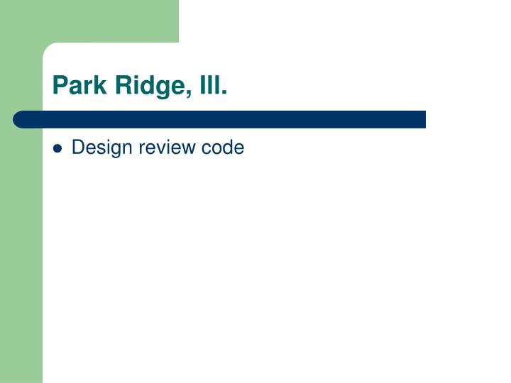 Park Ridge, Ill.