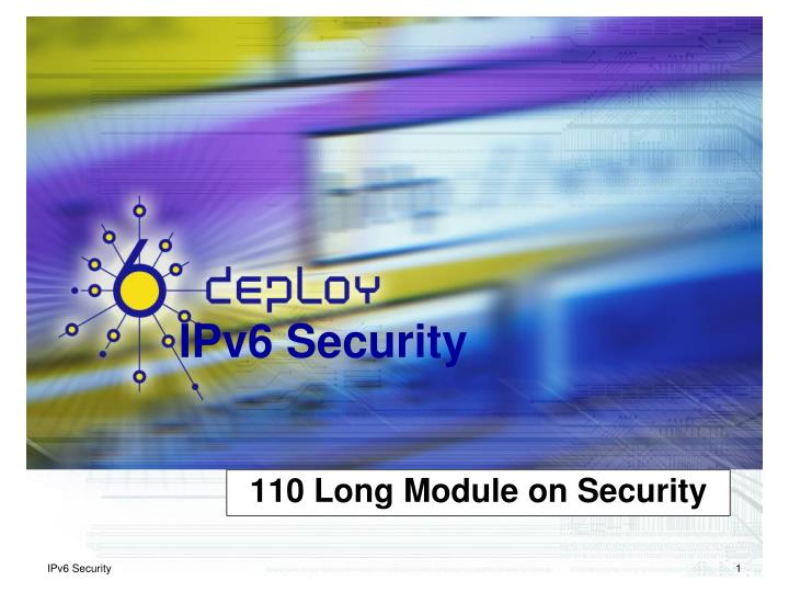 110 long module on security