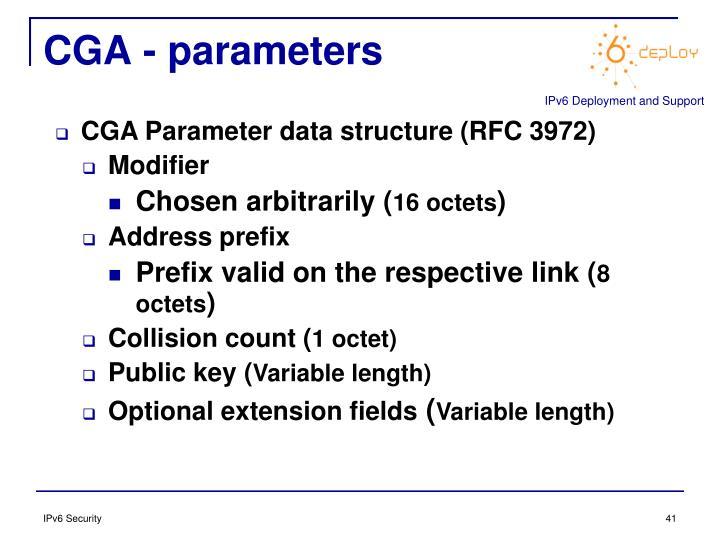 CGA - parameters
