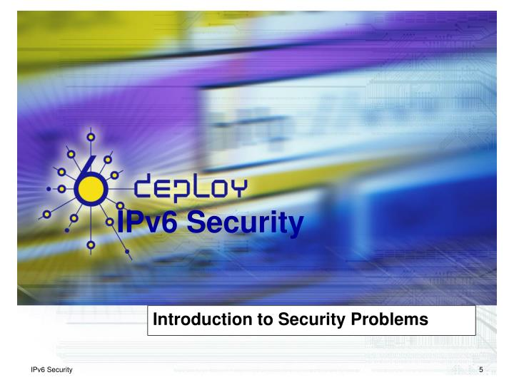 Introduction to Security Problems
