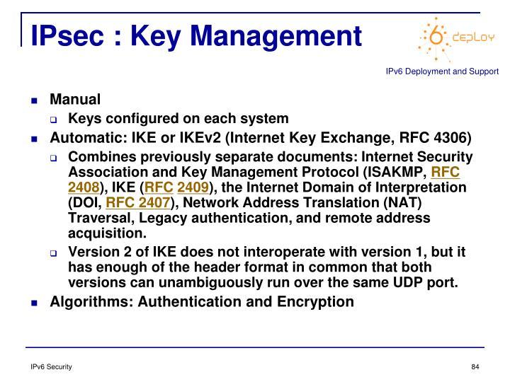 IPsec : Key Management
