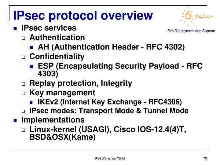 IPsec protocol overview