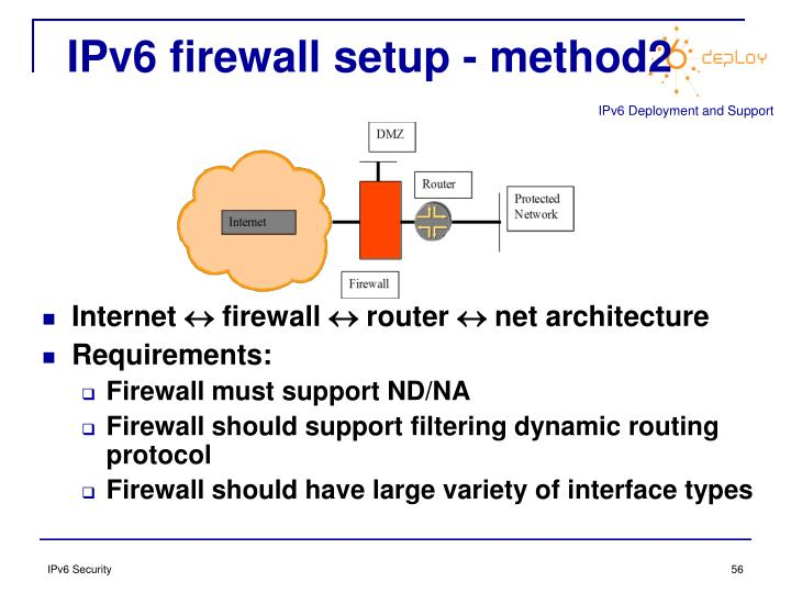 IPv6 firewall setup - method2