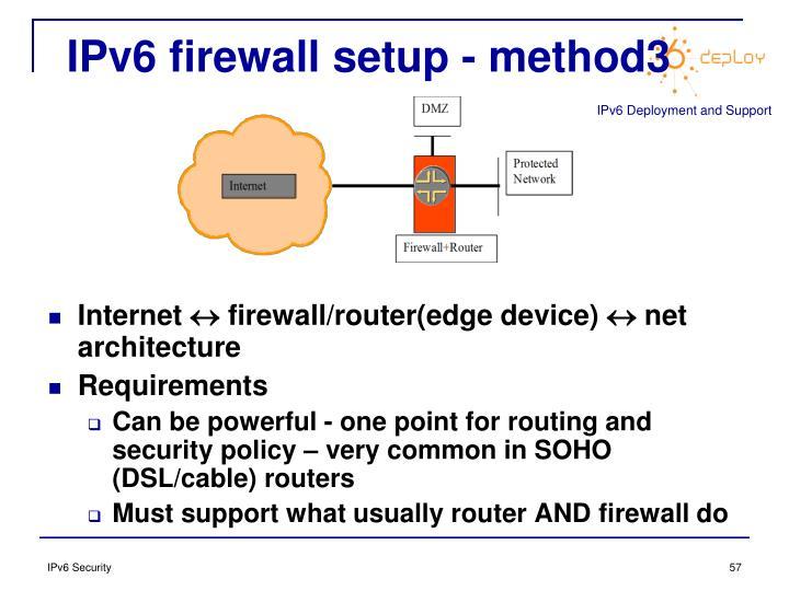 IPv6 firewall setup - method3