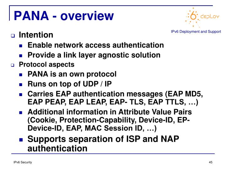 PANA - overview