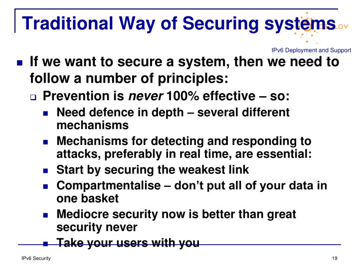Traditional Way of Securing systems