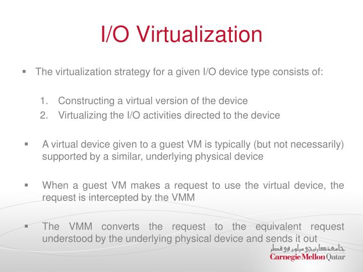 I/O Virtualization